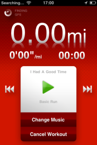 Nike+ app home screen